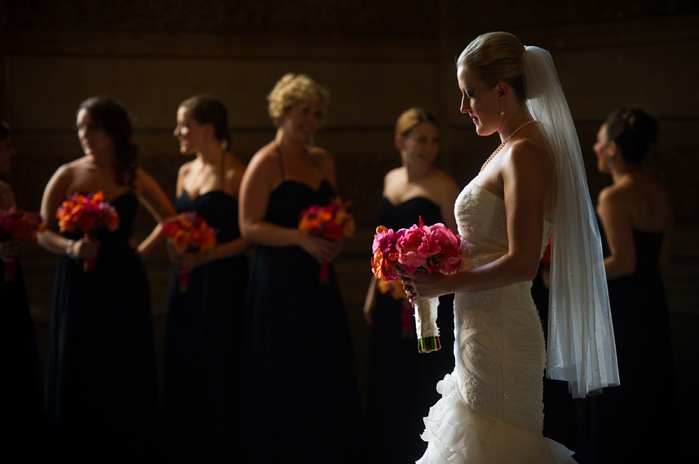 bridal portraits with bridesmaids cliff mautner photography
