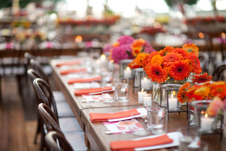 Orange And Pink Flowers Wedding Centerpieces Evantine Evantine