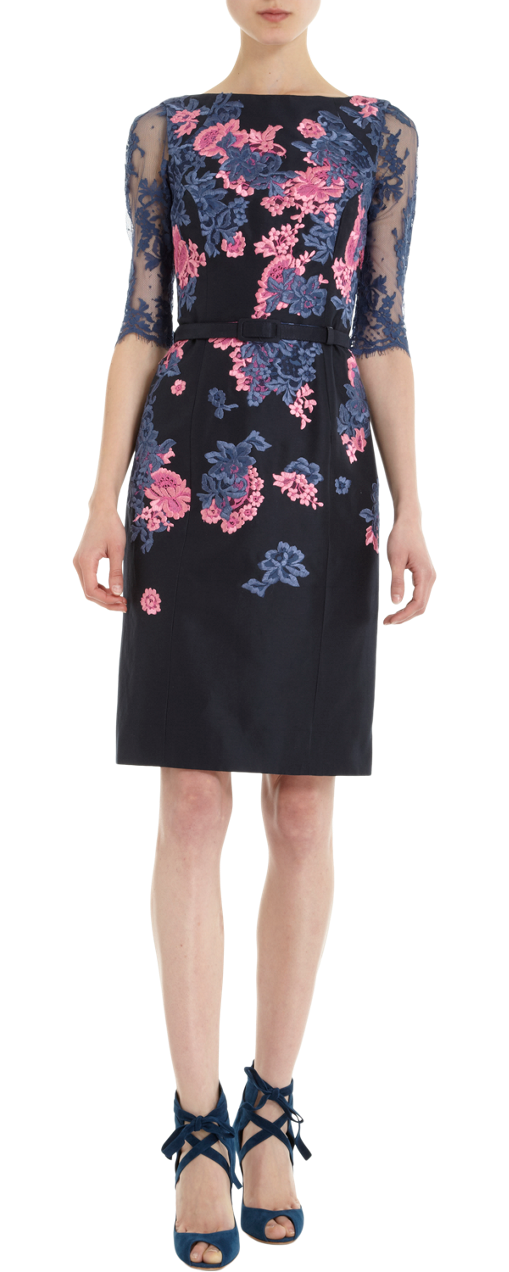 erdem anna dress floral print cocktail dress