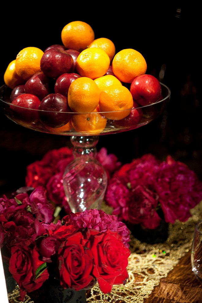 whole fruit centerpieces for events evantine design