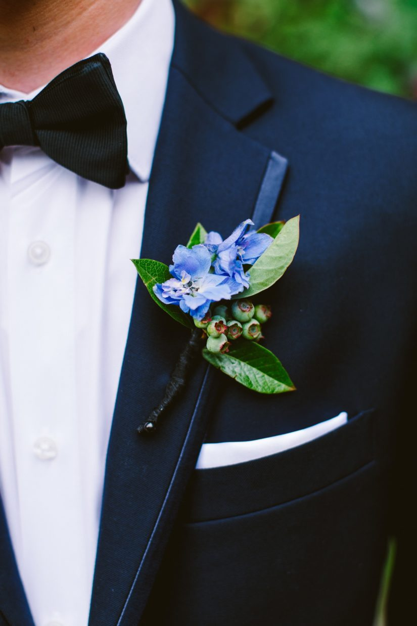 Blue Boutonnieres Floral Design Philadelphia Weddings Evantine Design